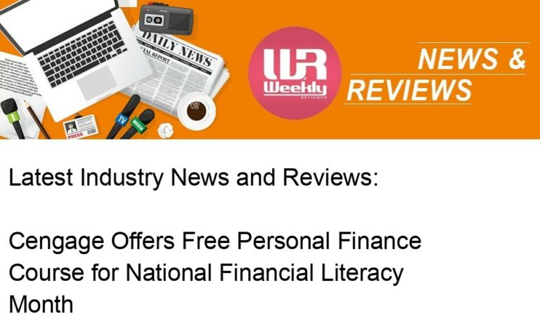 Cengage Offers Free Personal Finance Course for National Financial Literacy Month